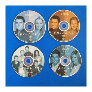 Set of 4 Random FRIENDS DVDs Discs Only SHIPS FREE